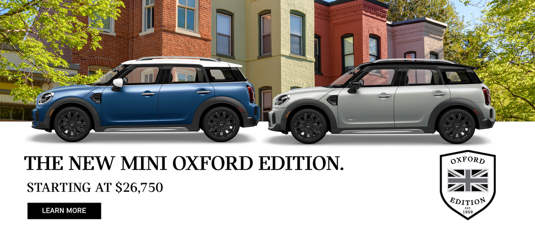 MINI Oxford Edition Banner for Website