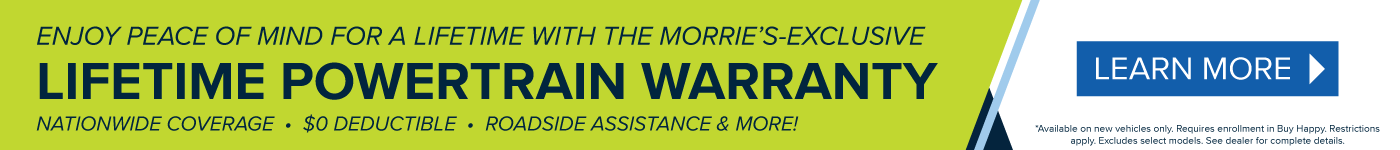 Morrie's Lifetime Powertrain Warranty