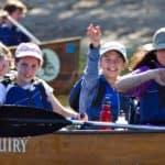 Children on a canoe