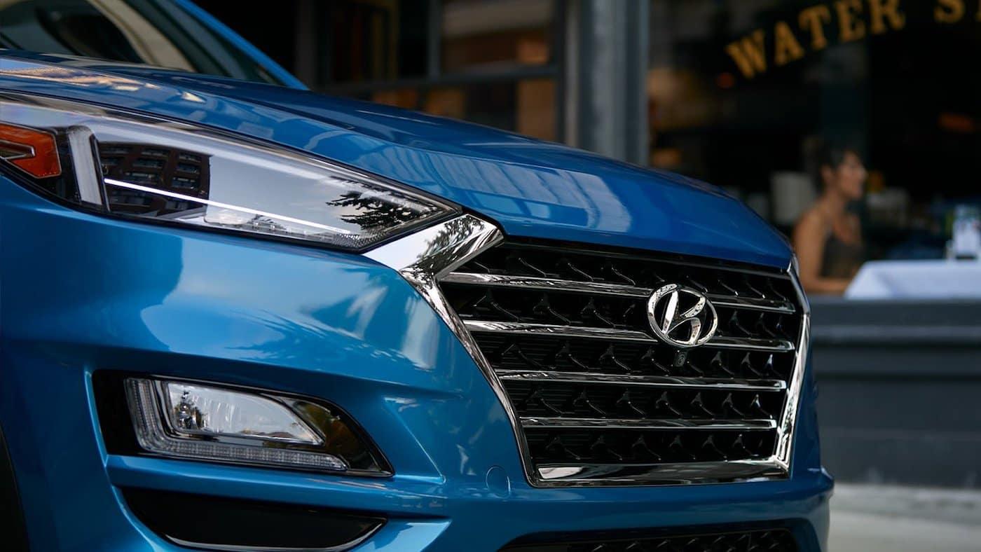 2021 Hyundai Tucson front grille.
