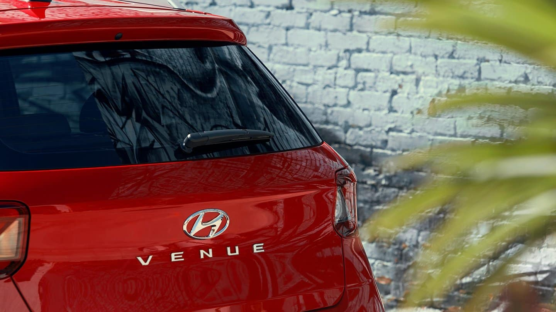 The back end of the 2021 Hyundai Venue available near Minneapolis.