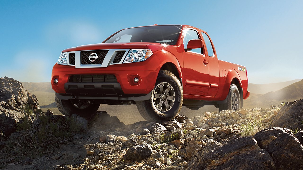 2017-nissan-frontier-off-roading-lava-red
