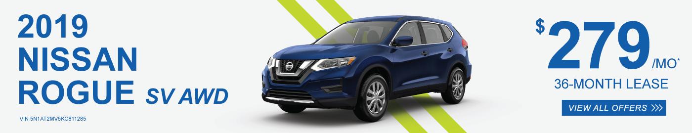 New 2019 Nissan Rogue SL AWD