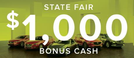 $1,000 State Fair Bonus Cash