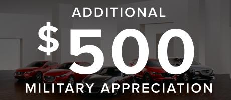 $500 Mazda Military Appreciation Bonus Cash