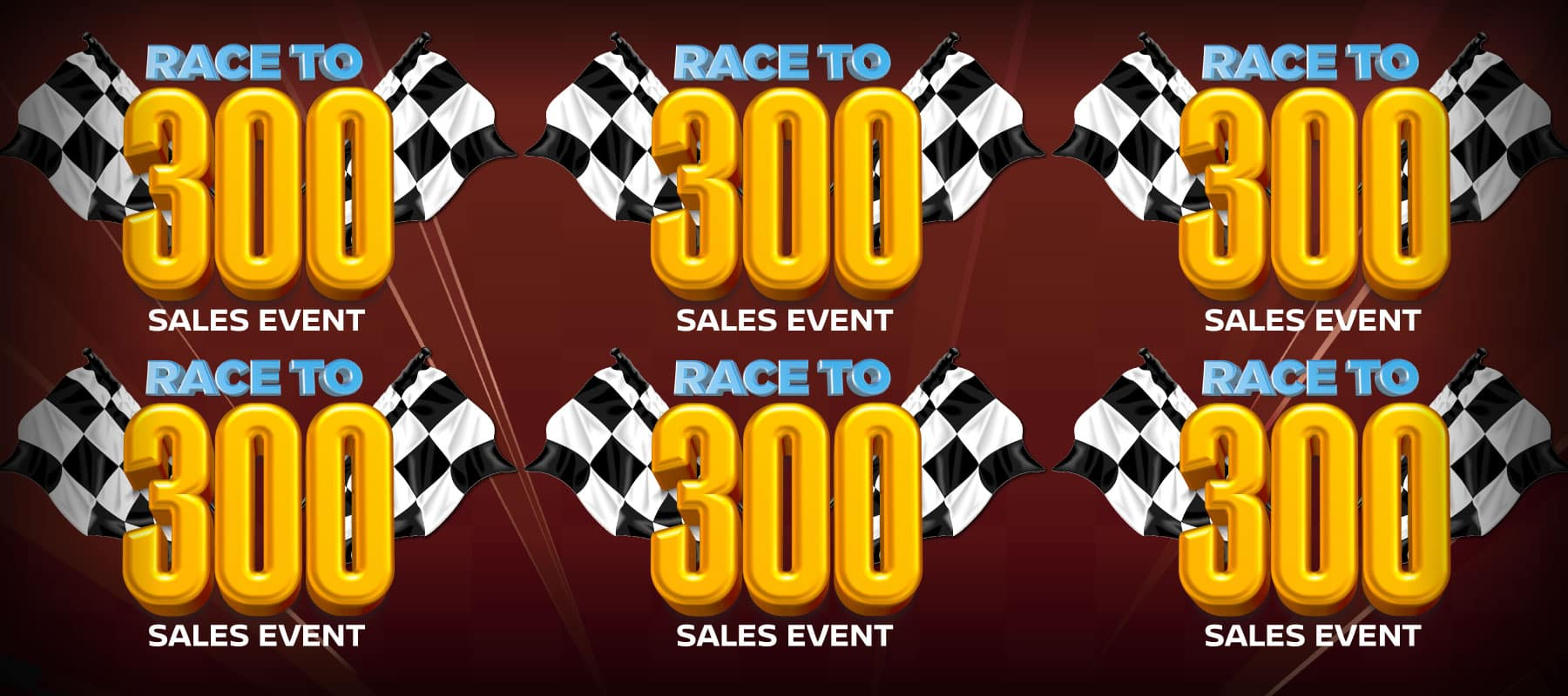 Race to 300 Sales Event