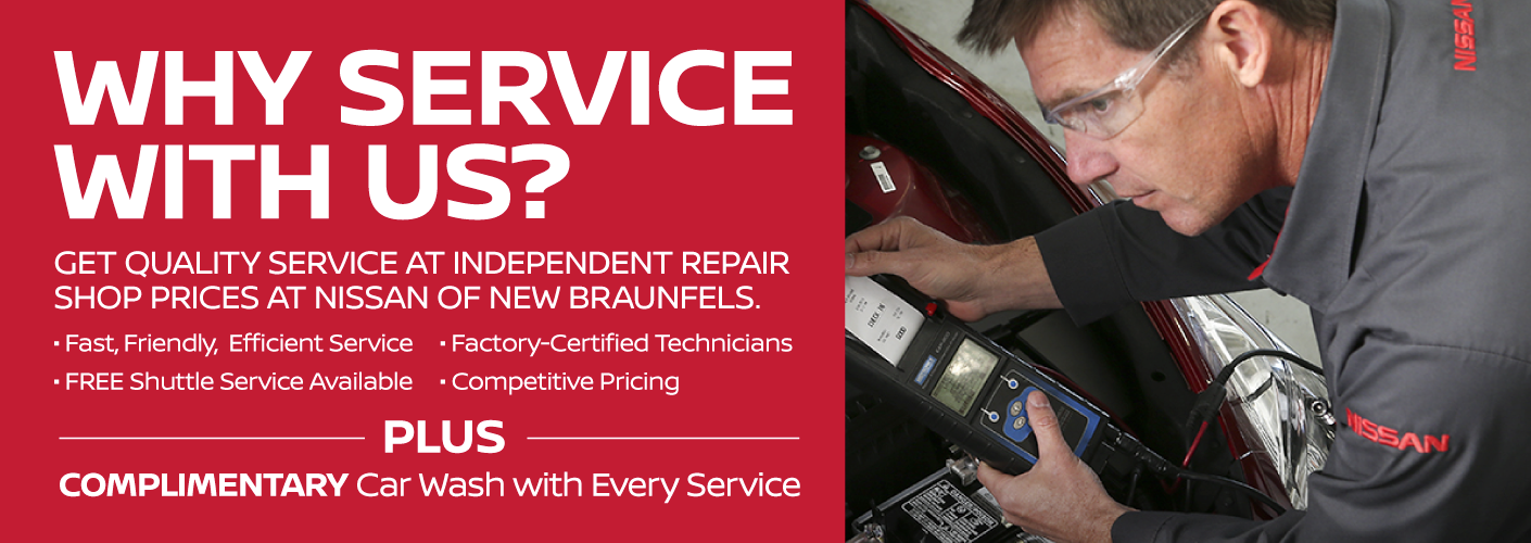 Get Quality Service at Independent Repair Shop Prices at Nissan of New Braunfels.