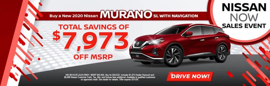 2020 Nissan Murano SL w/ Navigation