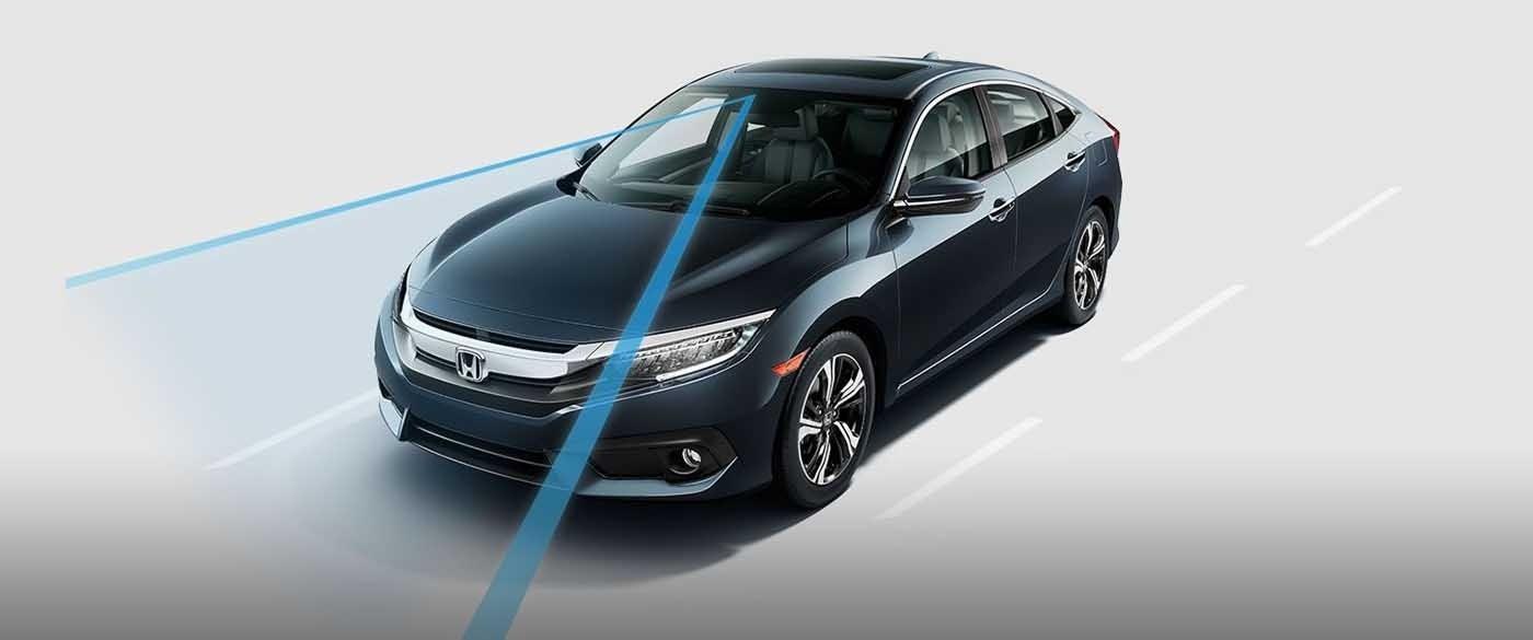 2017 Honda Civic Sedan Road Departure Mitigation System