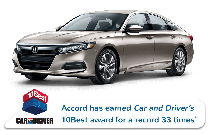 2020 Honda Accord Sedan Car and Driver Award Image