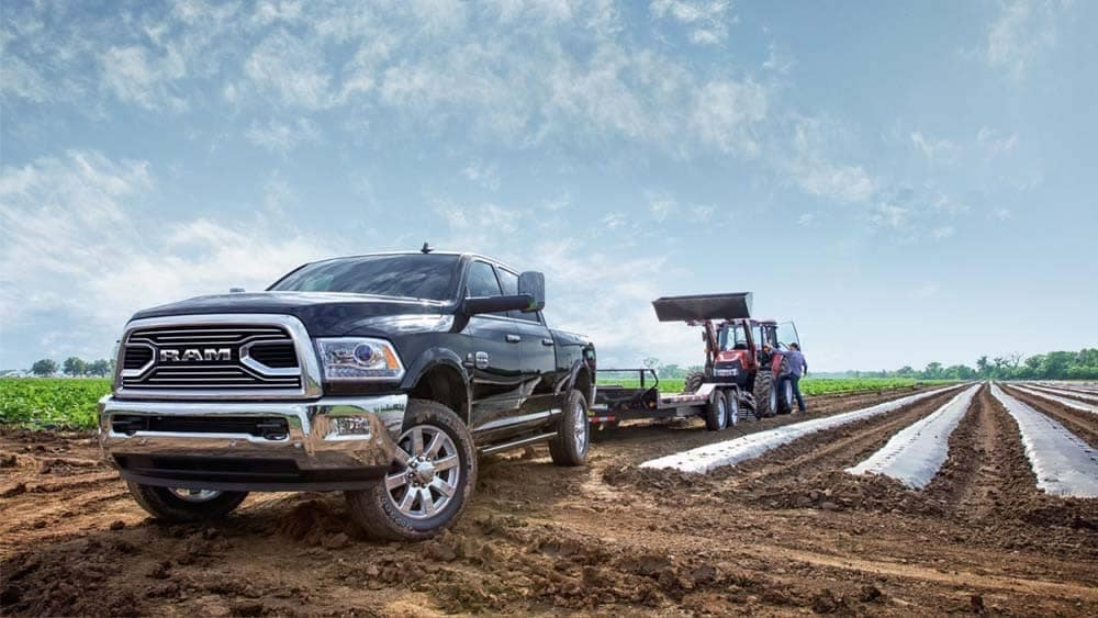 2018 Ram 2500 Laramie Longhorn on farmland