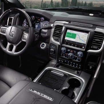 interior dash of 2018 Ram 2500 Laramie