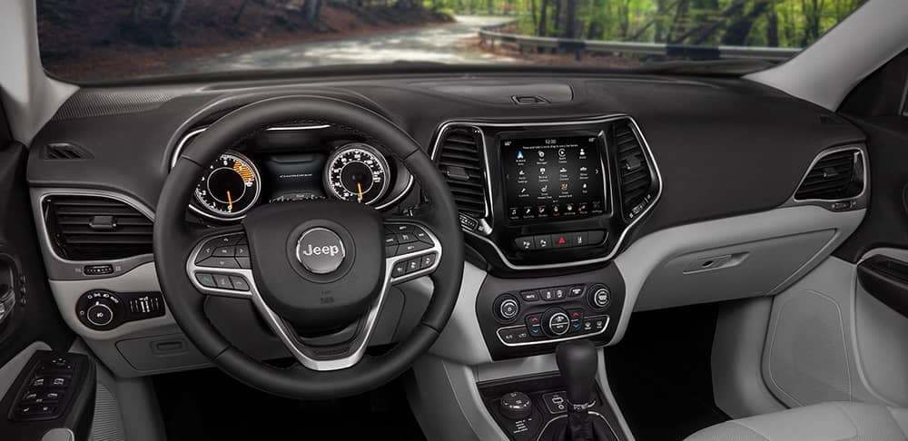 interior dashboard in 2019 Jeep Cherokee