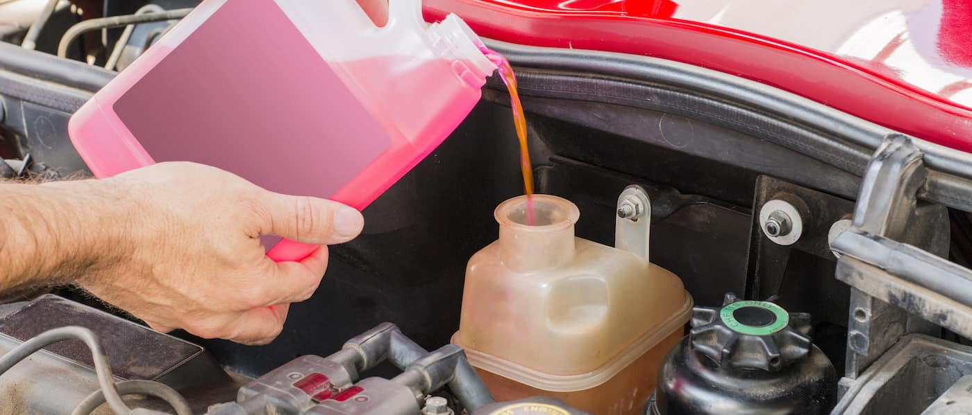 car coolant service in engine