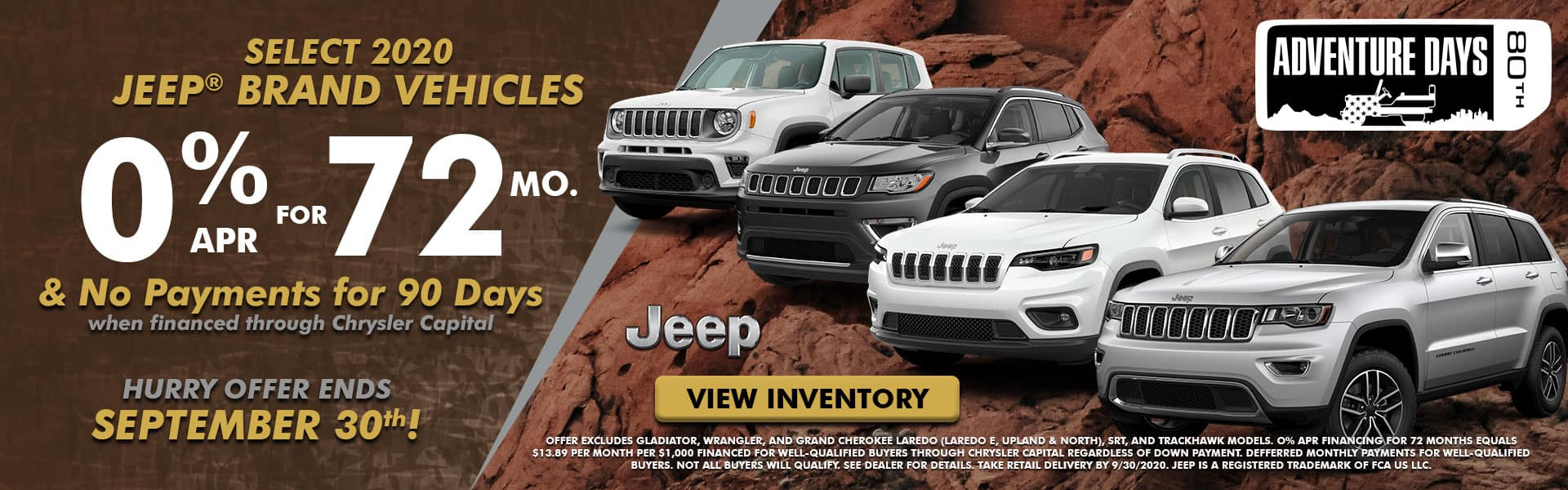 NMFOD Graphic – Web Banner (1920×600) – September National Offers – Jeep Lineup -09.2020