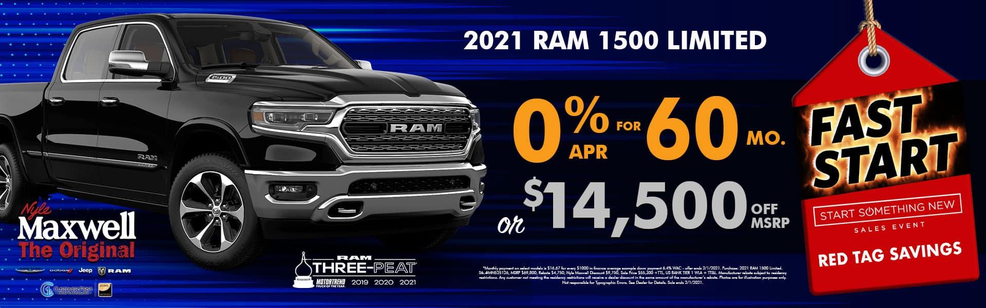 NMT Graphic – Web Banner (1920×600) – Fast Start – RAM 1500 LTD – 01.2021