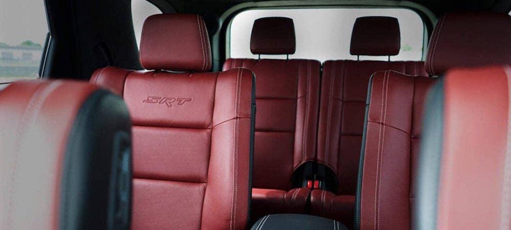 Durango SRT red leather seats