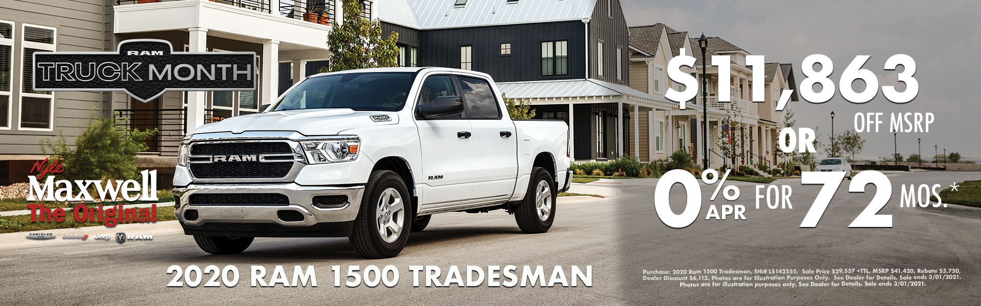 NMT Graphic – Web Banner (1920×600) RAM 1500 TRADESMAN TRUCK MONTH – 02.2021