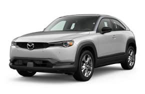 2022 Mazda MX-30 Premium Plus in the color Ceramic Metallic.