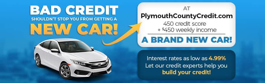 Bad credit shouldn't stop you from getting a new car - 450 score and $450 a week income equals a new car