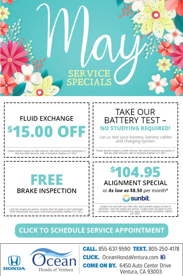 May Service Specials sunbit
