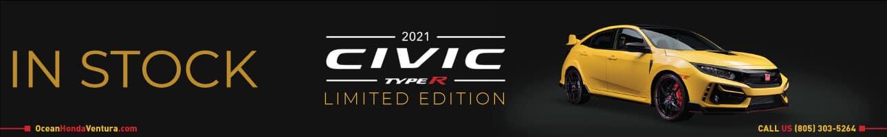 2021 Honda Civic Type R Limited Edition in stock at Ocean Honda of Ventura