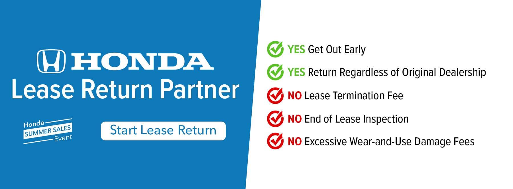 Honda Lease Return Partner