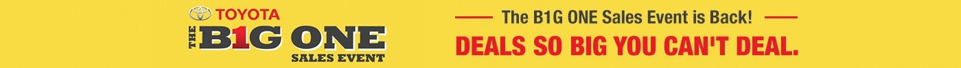 BIG ONE SALES EVENT BANNER