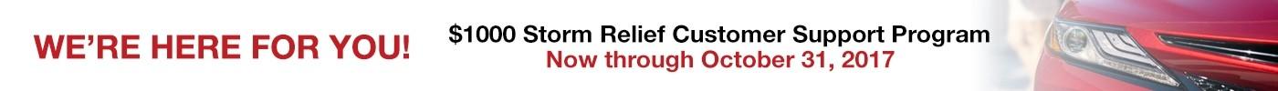 Storm relief banner