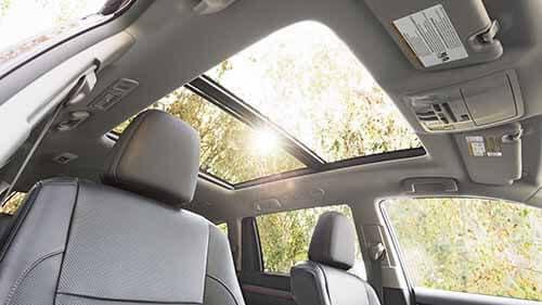 Toyota Highlander Interior Panoramic Roof