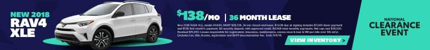 New 2018 Toyota RAV4 XLE Offer