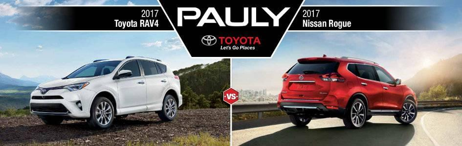 2017 Toyota Rav4 Vs 2017 Nissan Rogue Pauly Toyota