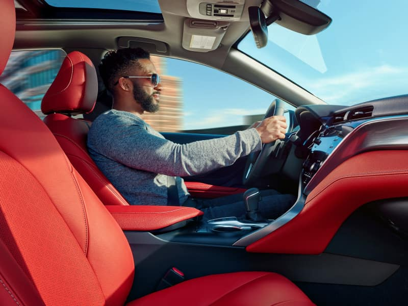 The spacious interior of the 2020 Toyota Camry