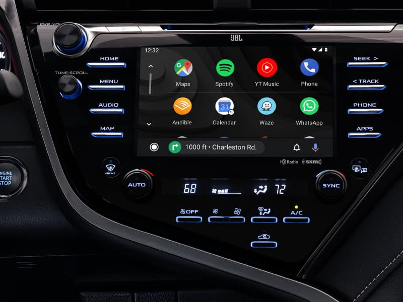 Touchscreen display inside the 2020 Toyota Camry