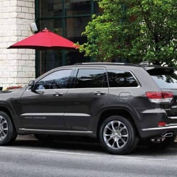 2019 Jeep Grand Cherokee parked by cosmopolitan cafe