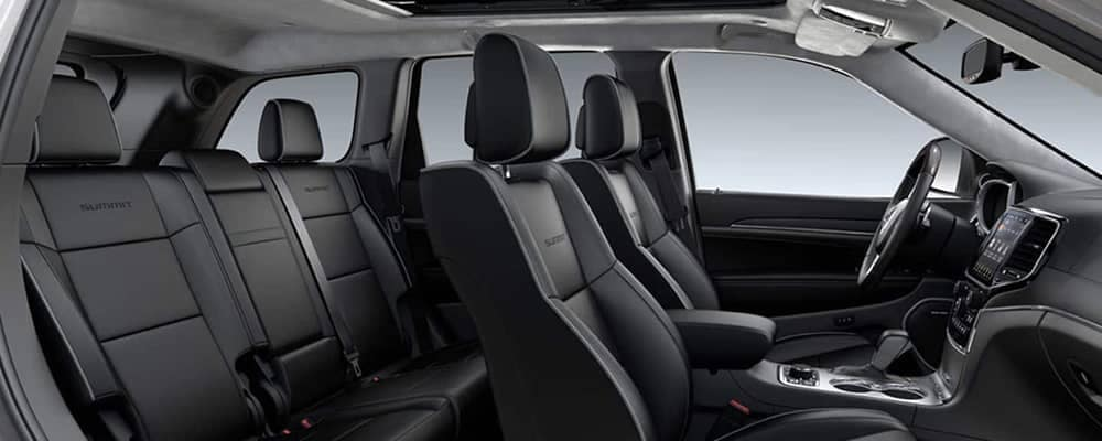 2019 Jeep Grand Cherokee front and rear seating