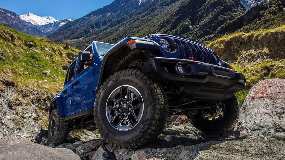 2019 Jeep Wrangler on mountain side