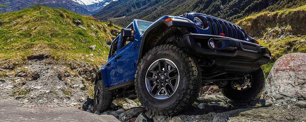 2019 Jeep Wrangler on the mountain