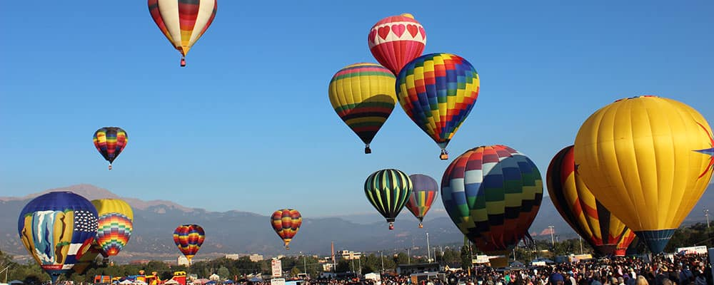 colorado springs labor day lift off hot air balloons