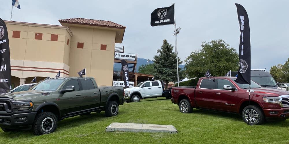 Pikes Peak & Bust Rodeo at dealership
