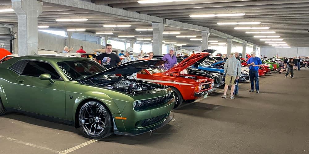 Mopar Car Show front hood