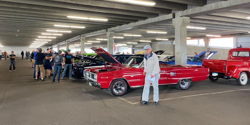 Mopar Car Show car and man