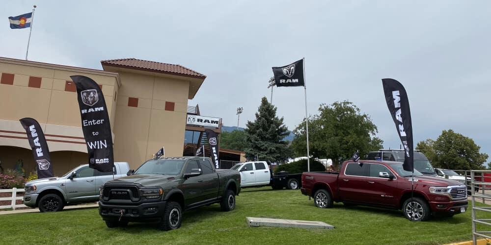 Pikes Peak & Bust Rodeo Trucks