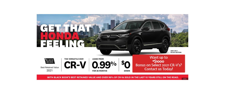 July CR-V offer