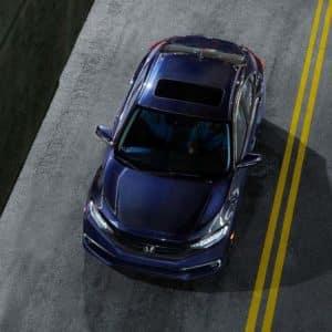 Driving 2020 Honda Civic at Pickering Honda