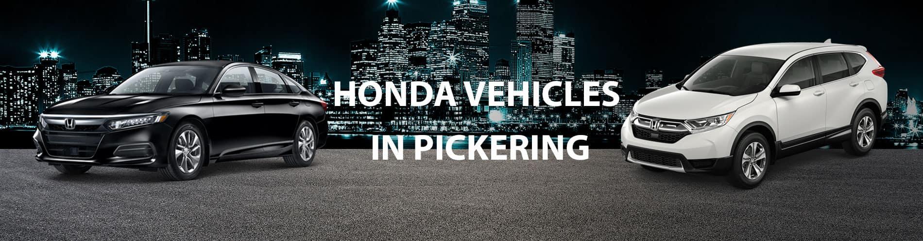 2021 & 2020 Honda vehicles available at Pickering Honda