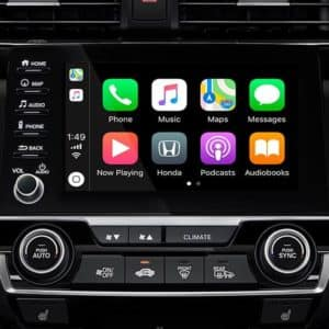 Avilable Apple Car Play and Android Auto in the 2020 Honda Civic