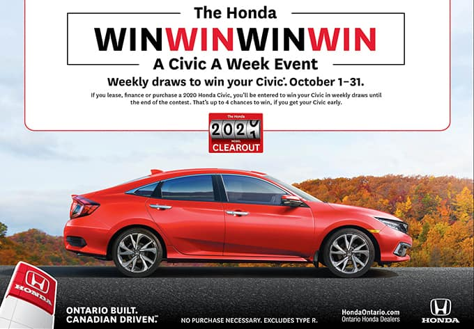 Honda-Civic-Spin-to-Win at Pickering Honda