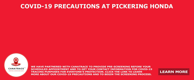 COVID 19 Precautions at Pickering Honda