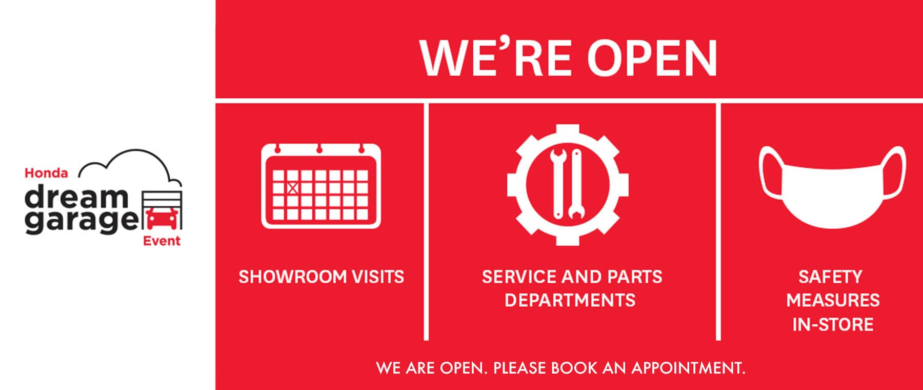 We are open by appointment only.